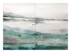 Dyptich Emerald-lake_40x56cm