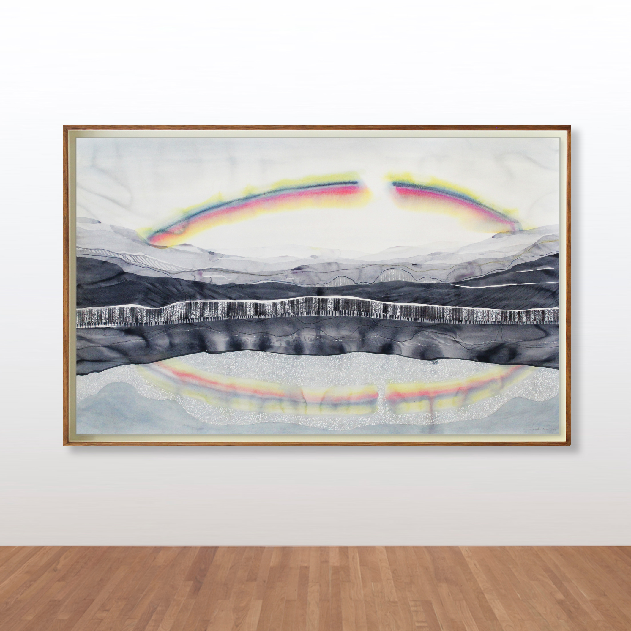 Stefan Gevers_Watercolours_rainbow frame