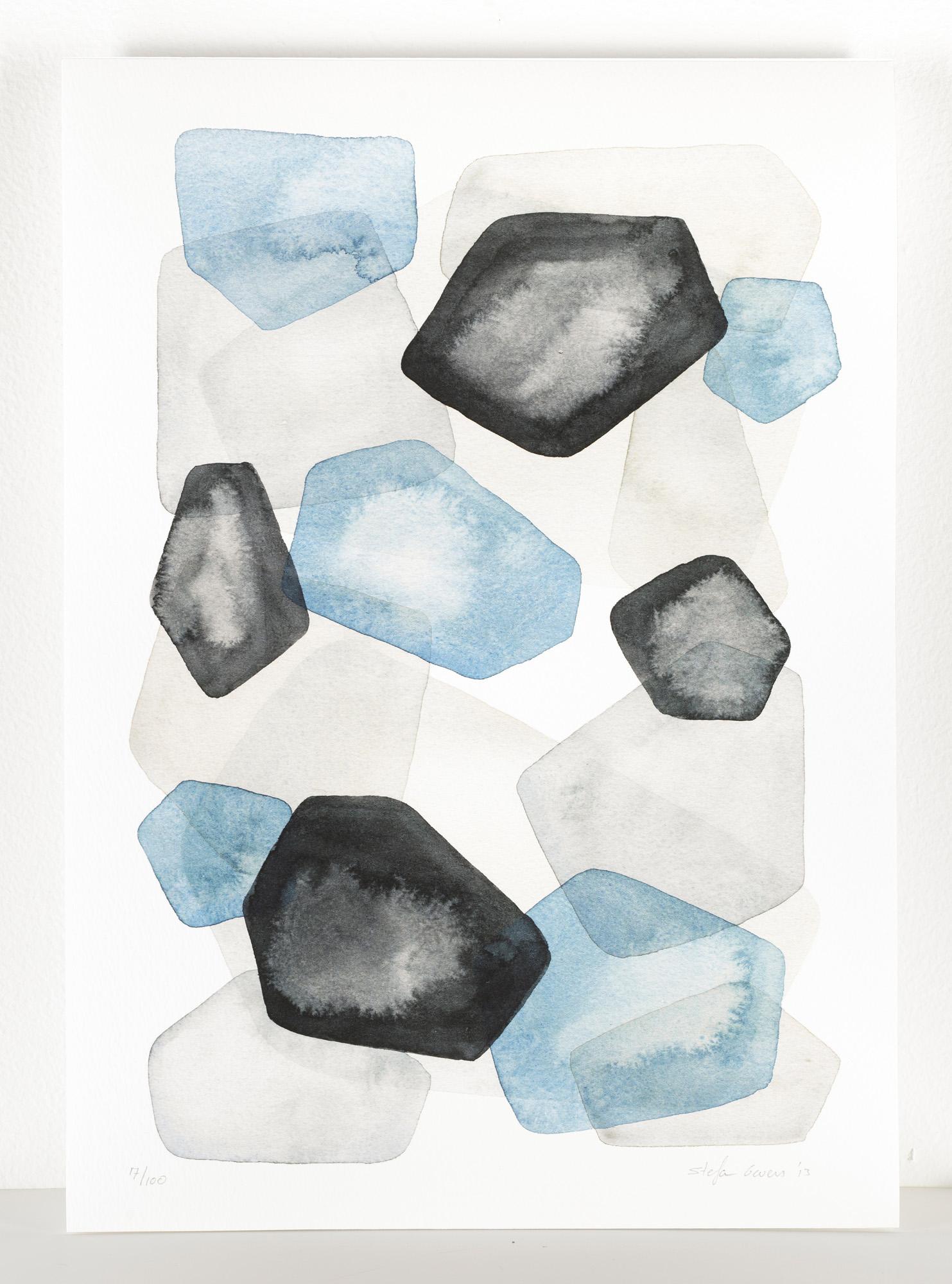 Blue pebbles