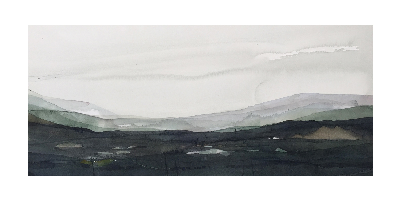 Night fall_21x47.5cm