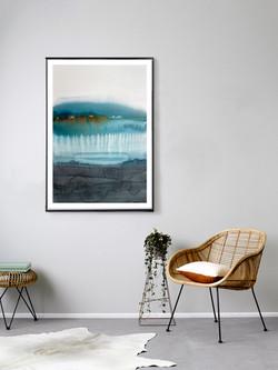 Evening Blue   watercolour   75x54cm