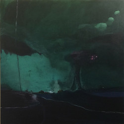 stefan-gevers_green-mist_2017_Acrylic-on-canvas_2017_h95xw95cm