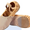 Thumbnail: Salmon Pink and Brown split sole ballet shoes