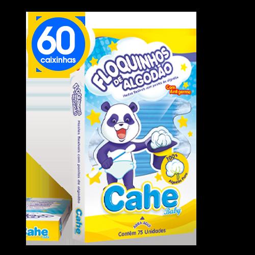 60 Caixinhas de Hastes Flexíveis Cahe Baby