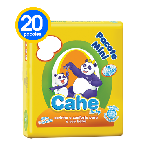 6 Pacotes fralda Cahe Baby Mini