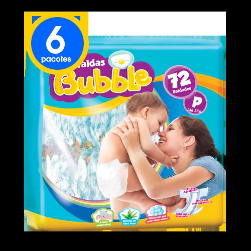 6 Pacotes Fraldas Bubble