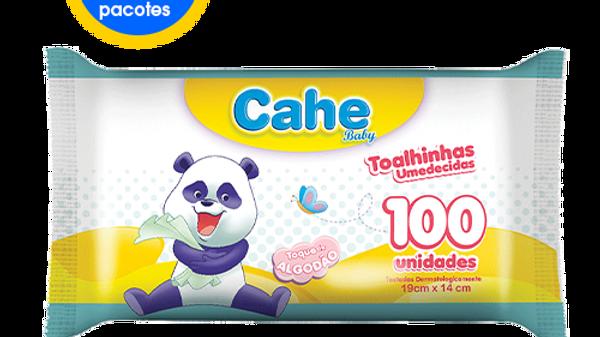12 Pacotes de Toalhinhas Umedecidas Cahe Baby com 100 unidades