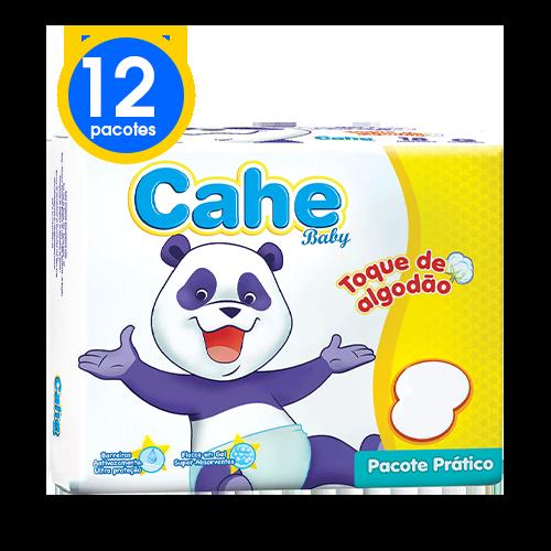 12 Pacotes Cahe Baby Prático Toque de Algodão