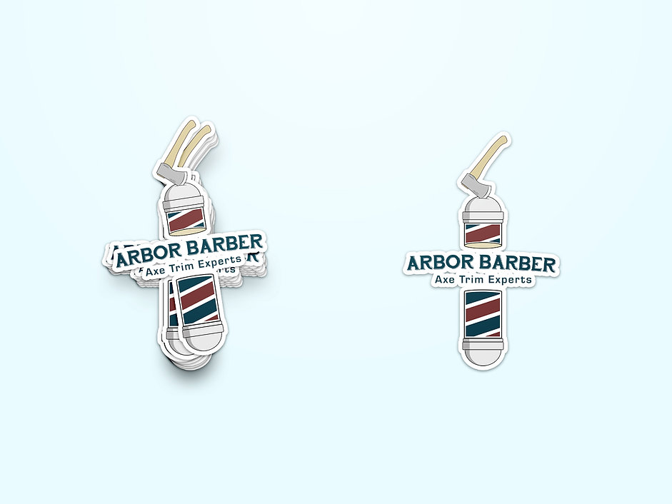 Arbor Barber Stickers