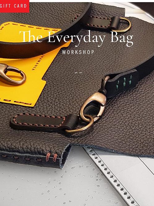 Workshops / Ateliers cuir -The Everyday bag | sac à bandoulière