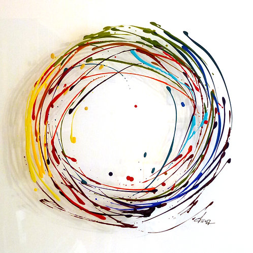 Fabienne Brever - Nulle part et Ailleurs - Acrylique sur plexiglas