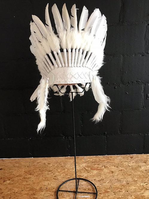 Coiffe Indien - Blanc