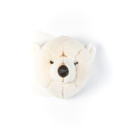 Basile l'ours blanc - Trophée en peluche