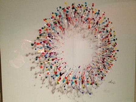 Fabienne Brever - Soleil - Acrylique sur plexiglas
