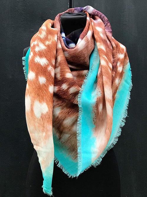 Haeckel Haus foulards - Grand foulard en laine Bambi