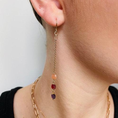 Stéphanie Ferretti - Boucles d'oreilles 3 carrés