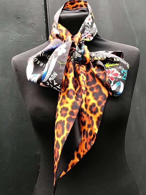 Haeckel Haus foulards - Grand foulard en soie Léopard et Feuillage