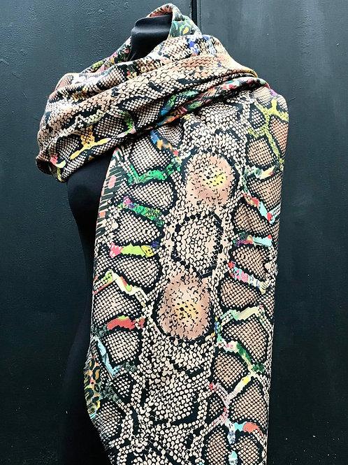Foulards Haeckel Haus - Grand foulard en laine et soie beige, dune