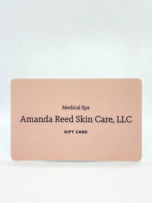 $50 Amanda Reed Skin Care Gift Card