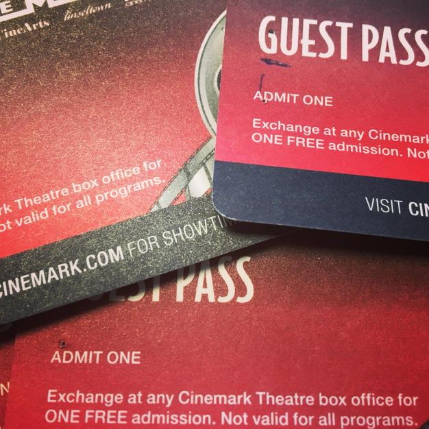 8 Cinemark Gift Passes