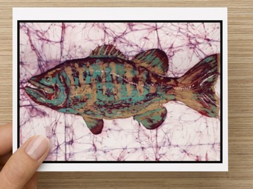 Largemouth bass notecards (5 pack)