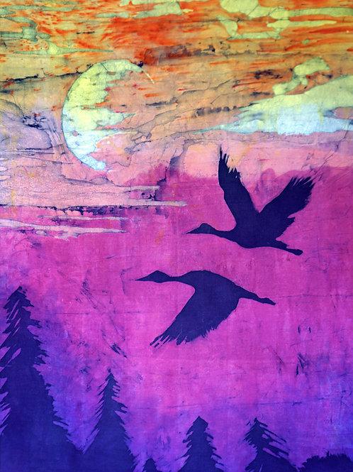 Herons at Sunset