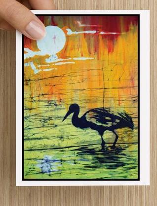 Crane at Sunset notecards (5 pack)