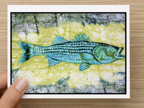 Rockfish (Striped Bass) notecards (5 pack)