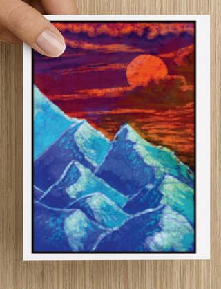 Mountain Sunset notecards (5 pack)