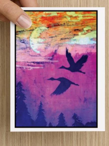 Herons Flying notecards (5 pack)