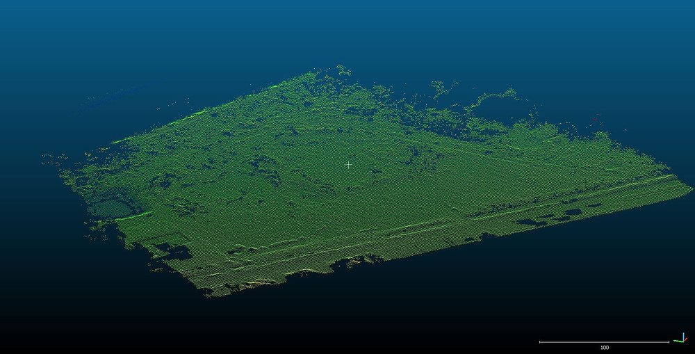 Aerial LiDAR drone survey of disused port