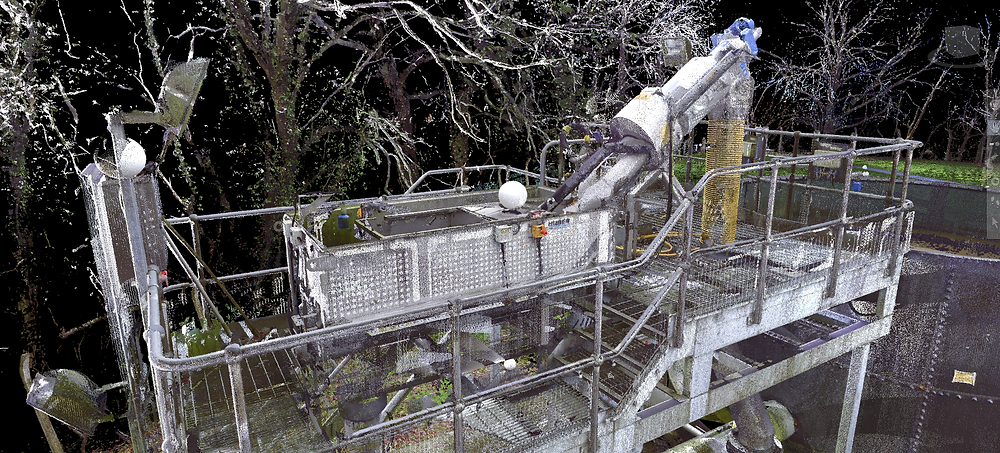 3D laser scanning and 3D BIM model of project for redesign work
