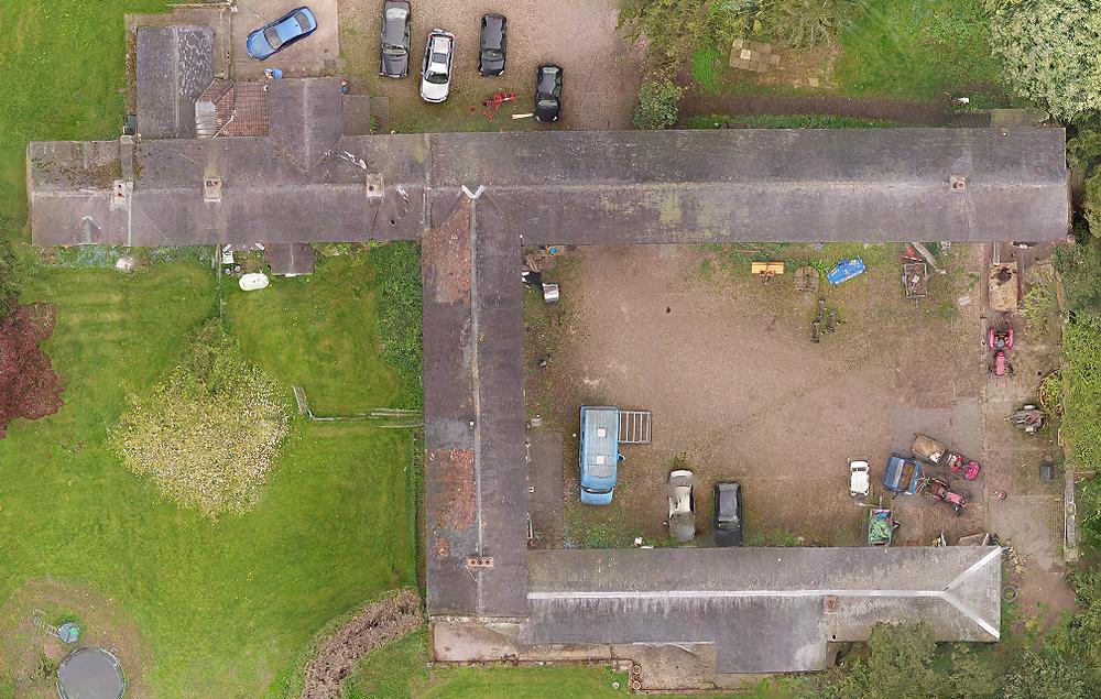 drone survey of building