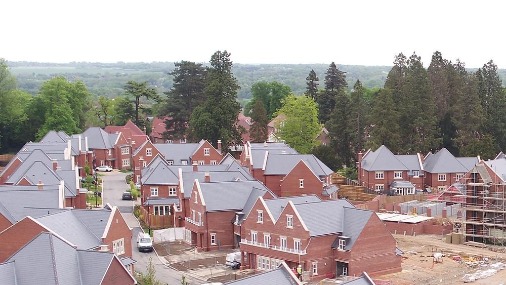 Aerial image of housing development