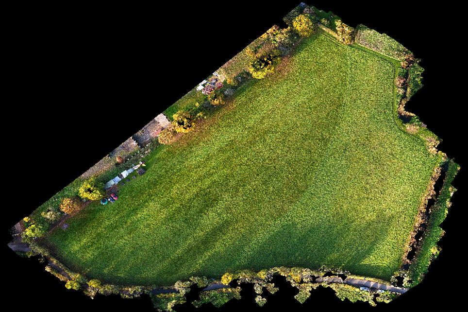 Point cloud of site with GCPs