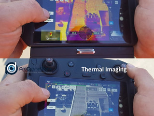 Latest drone and thermal imaging technology used for a roof inspection to help identify water leaks