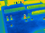 Drone thermal imaging of roof