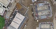 Drone progress monitoring of construction site