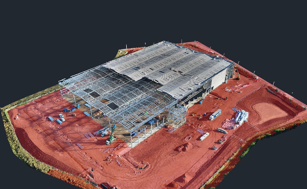 Classification of 3D point cloud using drone technology on construction projects