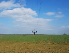 Drone survey/inspection of overhead power lines (OHL)
