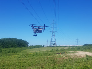 Using drone technology for powerline or overhead line (OHL) survey or inspection work