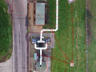 Combining 2D orthomosaic with 2D CAD utility/GPR survey provides powerful insights