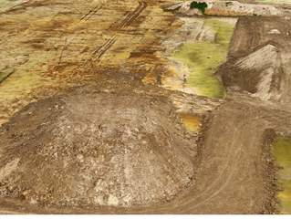 RTK/PPK drone technology used on earthworks project to measure stockpiles