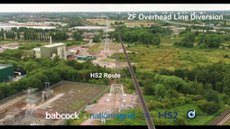 Babcock and HS2 use drone technology and 3D Animation or Augmented Reality on National Grid project
