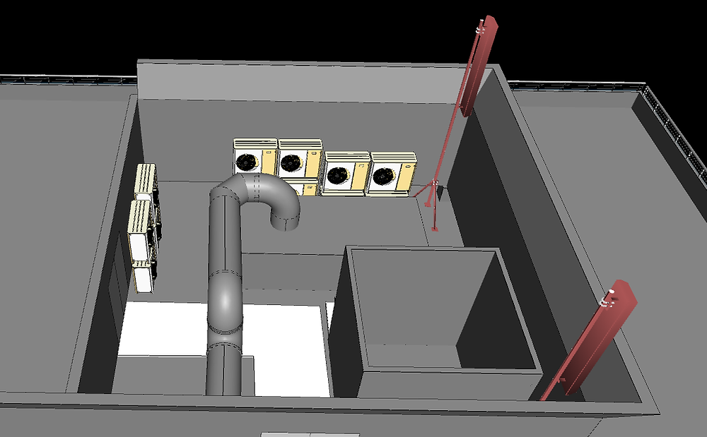 Terrestrial laser scanning and ScanToBIM of telecoms project for redesign work
