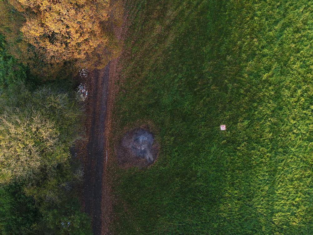 Drone topographical survey of land