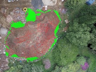 Stockpile measurement using drone technology