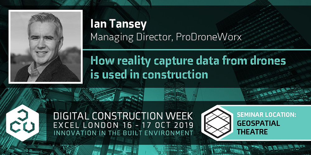 ProDroneWorx presenting at Digital Construction Week (DCW) in London on the 17th October