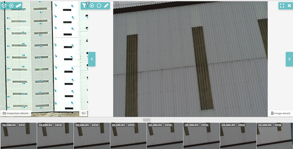Drone asset inspection using cloud based analysis tool