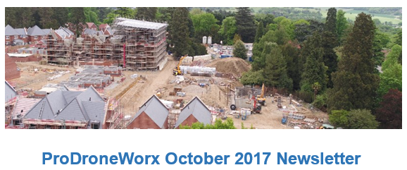 ProDroneWorx monthly newsletter for the construction industry